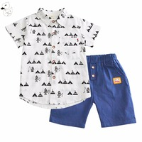 BINIDUCKLING 2017 Children S Sets Summer Newest Design Baby Boys Clothing Set Printed Shirt Top Short