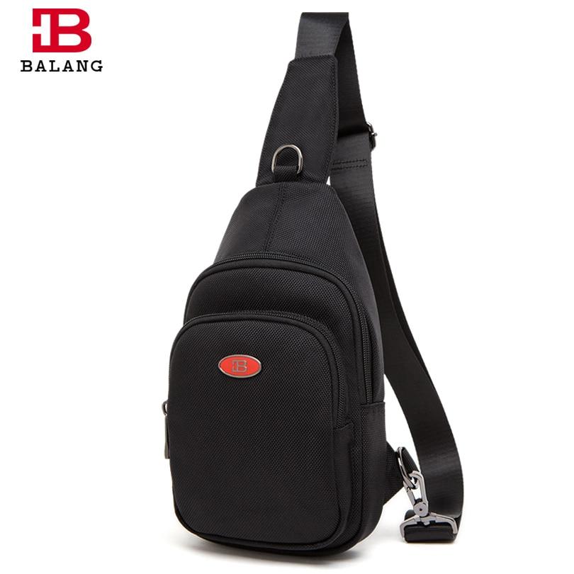ФОТО BALANG Unisex Casual Messenger Bag High Quality Sling Bag Unisex Waterproof Multipurpose Crossbody Bag Chest Pack Durable Oxford