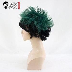 Image 3 - HSIU חדש Izuku Midoriya פאת קוספליי שלי גיבור האקדמיה תלבושות לשחק פאות ליל כל הקדושים תלבושות שיער משלוח חינם באיכות גבוהה