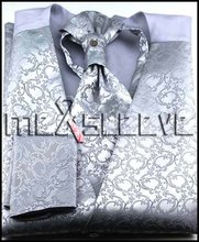 Free shipping New arrival silver Full Back lining waistcoat