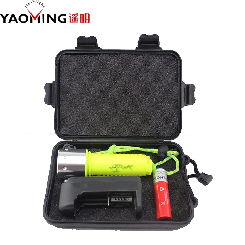 Diving Flashlight CREE XML T6 3800LM Powerful Led Diving Lanternas Waterproof Linternas Light Lamp Scuba Flashlights