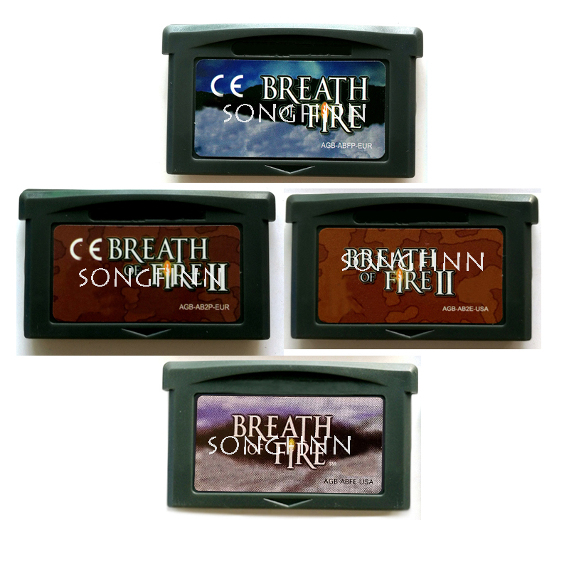 Breath of Fire Series US EU Video Game Memory Cartridge Card for 32 Bit Console Accessories