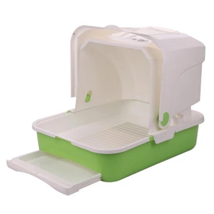 Enclosed Toilet Cats Pet Bedpan Resin Large Box Pets Litter Tray Luxury Toilet Training Bandeja Para Gato Pet Supplies 90Z2101