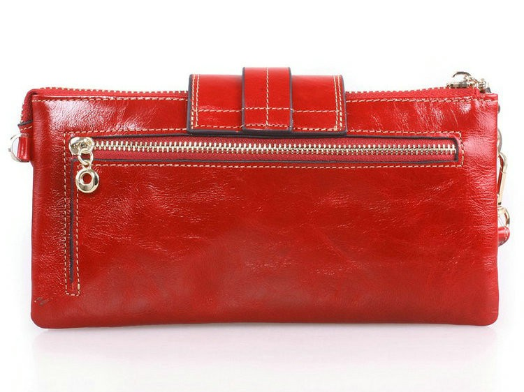 leather wallets for women red