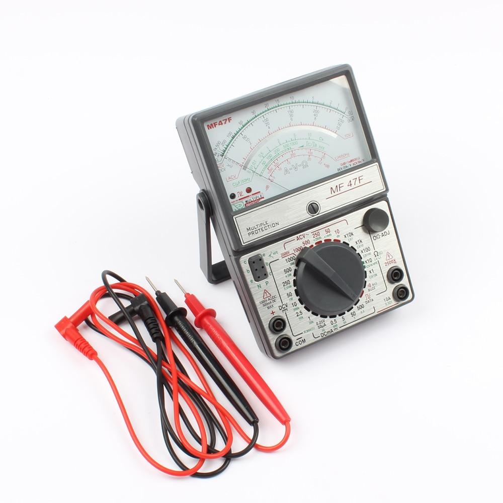 купить MF47F MF-47F AC DC Voltmeter Ammeter Ohmmeter analogue multimeter ampere volt ohm meter по цене 1548.98 рублей
