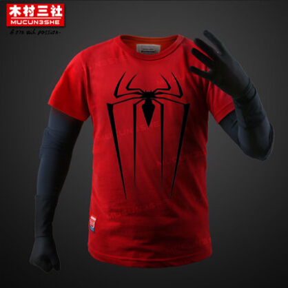 New The Amazing Spider Man Red Logo Black T Shirt Tee Top In T
