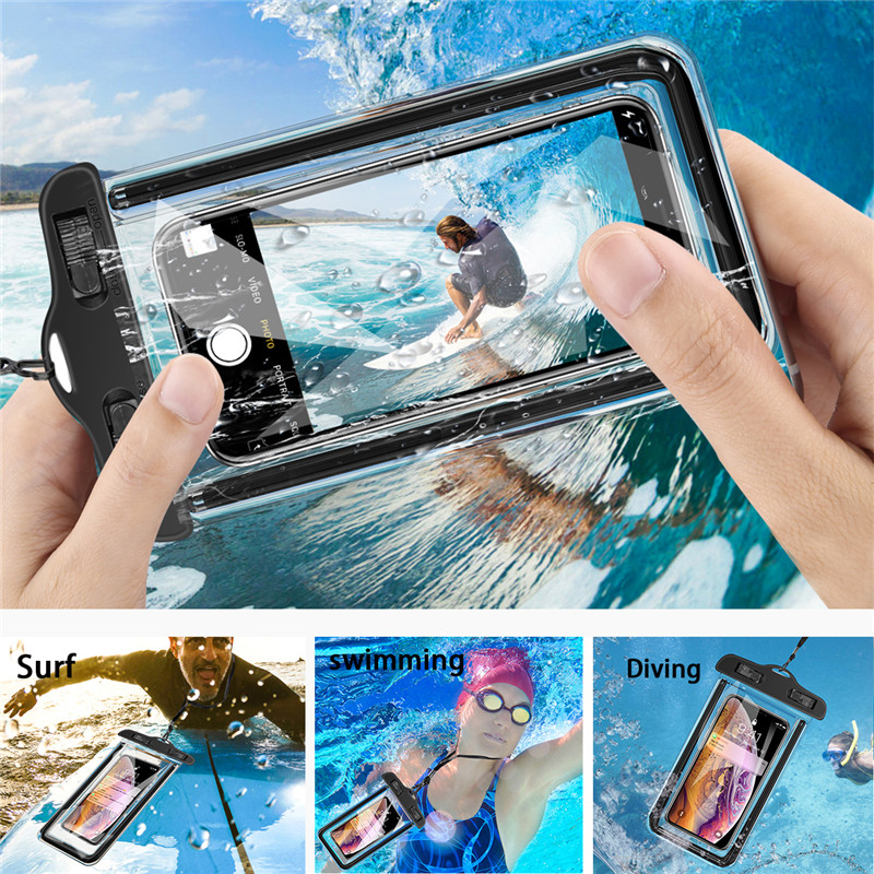 Image 5 - USLION Universal Waterproof Case For iPhone 11 Pro Max XS MAX X XR 8 7 6 Plus Cover Pouch Bag Cases For Samsung Huawei Xiaomi-in Fitted Cases from Cellphones & Telecommunications