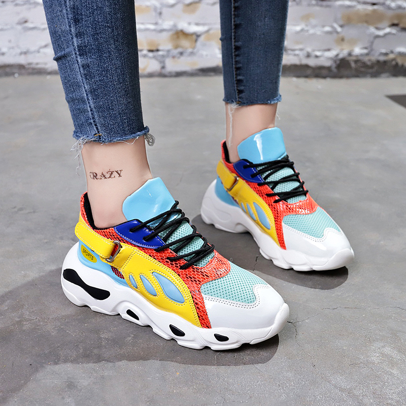 Fashion Sneakers Woman 2018 Breathable Mesh Women Casual Shoes