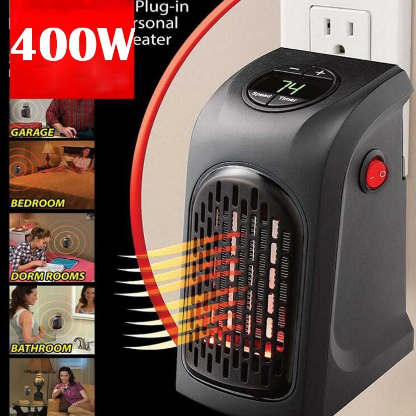 Mini eléctrico casa práctico estufa calentador de mano macho-en 400 W calentador de pared de Bar de cocina baño Hotel viajar