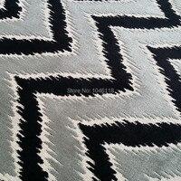 Deluxe Zigzag Cut Velvet Design Sofa Chair Villas Hotel Home Decoration Fabric