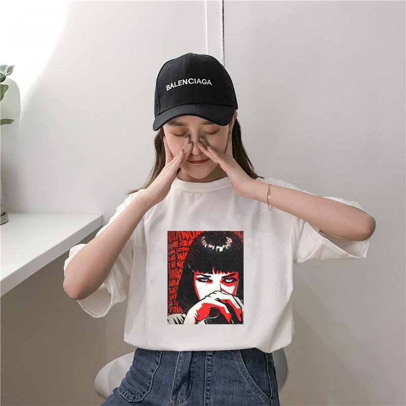 Female Womens Casual Short Sleeve Pokemon Tops Summer Vogue Printed Shirt Femme Fashion Harajuku For Women's Shirt Vintage Top