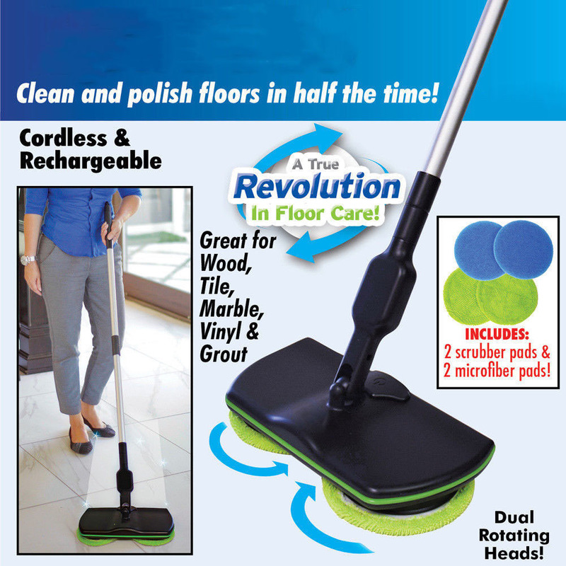 New Magic Easy Microfiber Electric Broom 360 Rotating Mop Spin Spray Foot Switch Mop Floor Cleaning Mop Easy Bucket Dust Broom