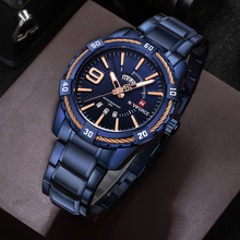 Fashion Casual Brand Waterproof Quartz Watch Men Military Stainless Steel Sports Watches Man Clock Relogio Masculino