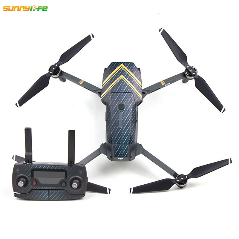 Sunnylife Dustproof Wrap Sticker Fuselage Skin Stickers Body Decals Remote Controller Paster Batteries Pasters for DJI