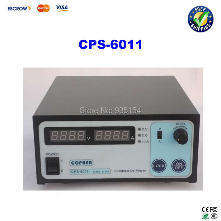 Free ship! Small Volume CPS-6011 60V 11A High Efficiency Adjustable DC Power Supply stabilized voltage supply cps 6017 updated version 1000w 0 60v 0 17a high power digital adjustable dc power supply cps6017 220v