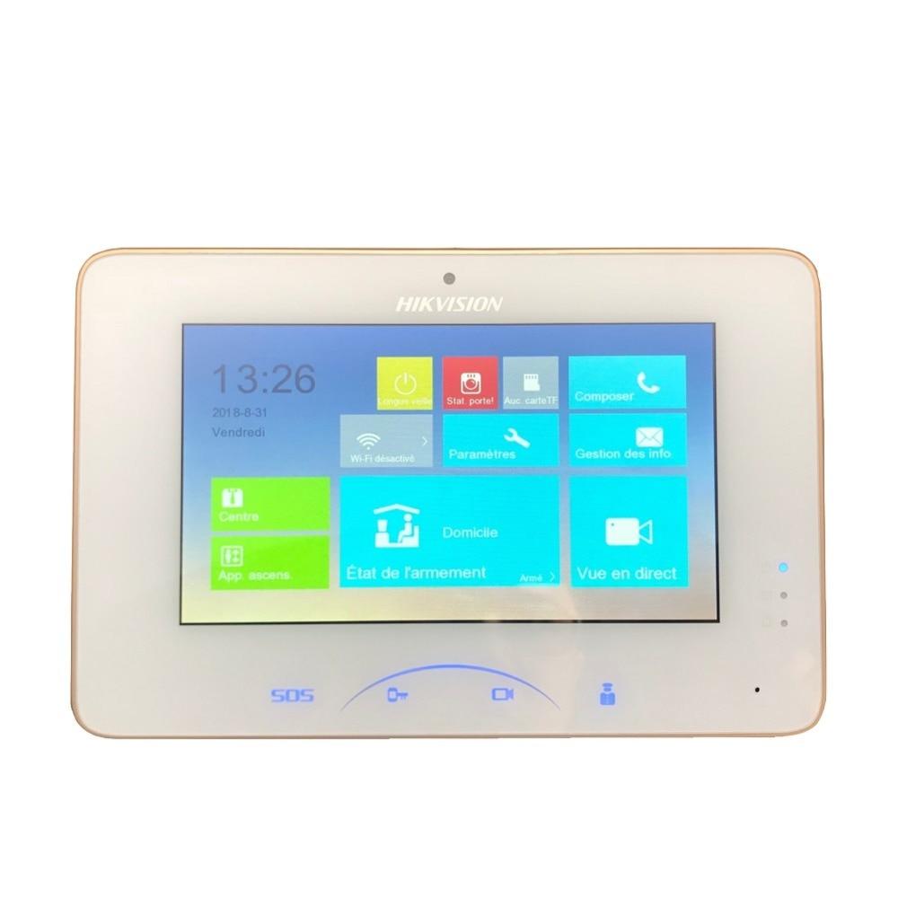 Multi-lingua, di Aggiornamento di Supporto. internationa Hikvision Ds DS-KH8301-WT Video di Interni Touchscreen 7 pollici Monitor 1024X600 0.3MP macchina fotografica