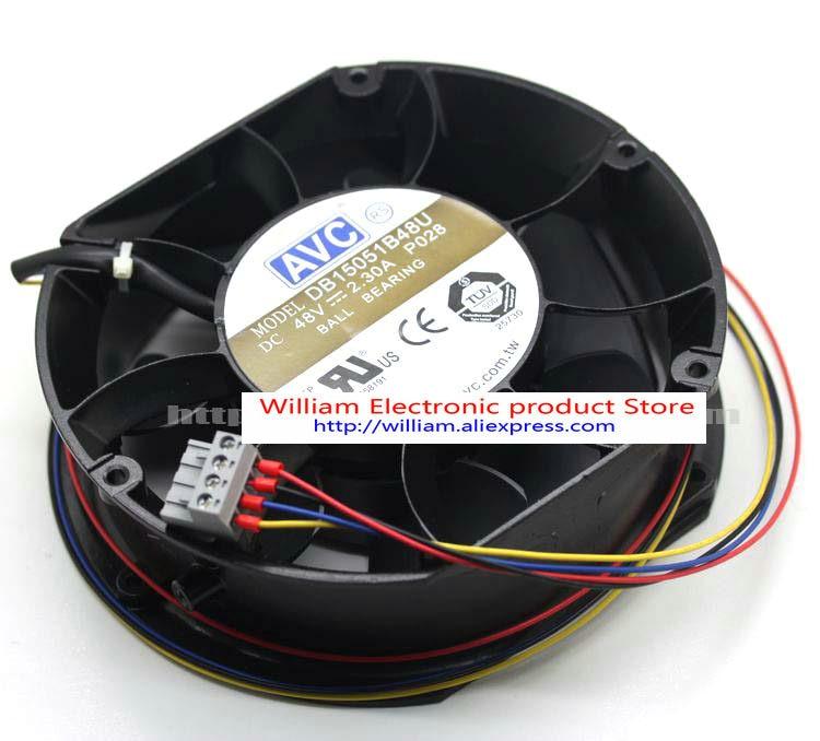 Nouveau Original AVC DB15051B48U 150*150*51 MM 15 cm 48 V 2.30A double boule télécom ventilateur d'alimentation