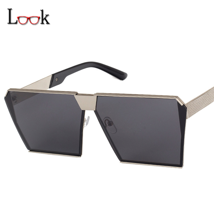 Fashion 2017 Big Square Frame Sunglasses Women Men Sun Glasses Vintage Oversized Mirror Outdoor Sport Eyewear Oculos - Look Me Co., Ltd. store