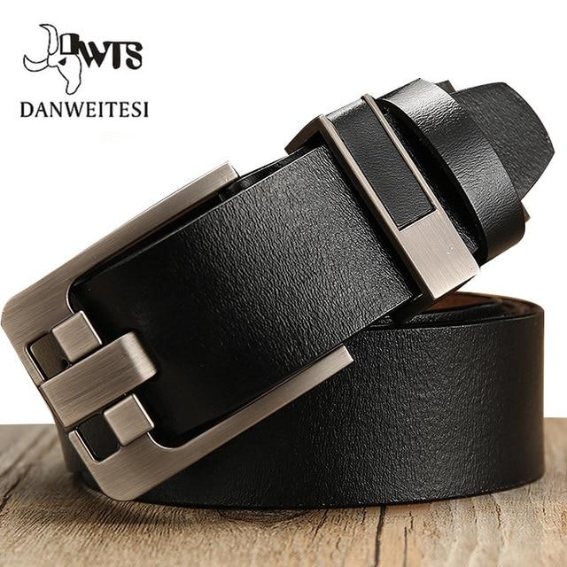 [DWTS]belt male leather belt men male genuine leather strap luxury pin buckle belts for men belt Cummerbunds ceinture homme 2