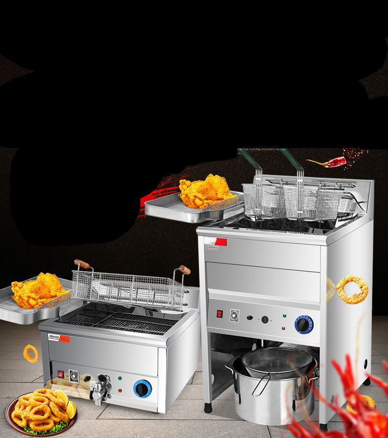 Electric Deep Fryers blast furnace commercial large - capacity deep frying pan automatic time machine.Electric Deep Fryers blast furnace commercial large - capacity deep frying pan automatic time machine.