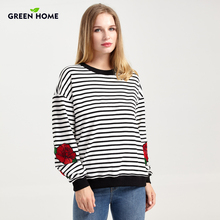 Green Home Winter Breastfeeding Pregnancy Thicken Clothing for Pregnant Women Striped Maternity Clothes Warm Long Sleeve