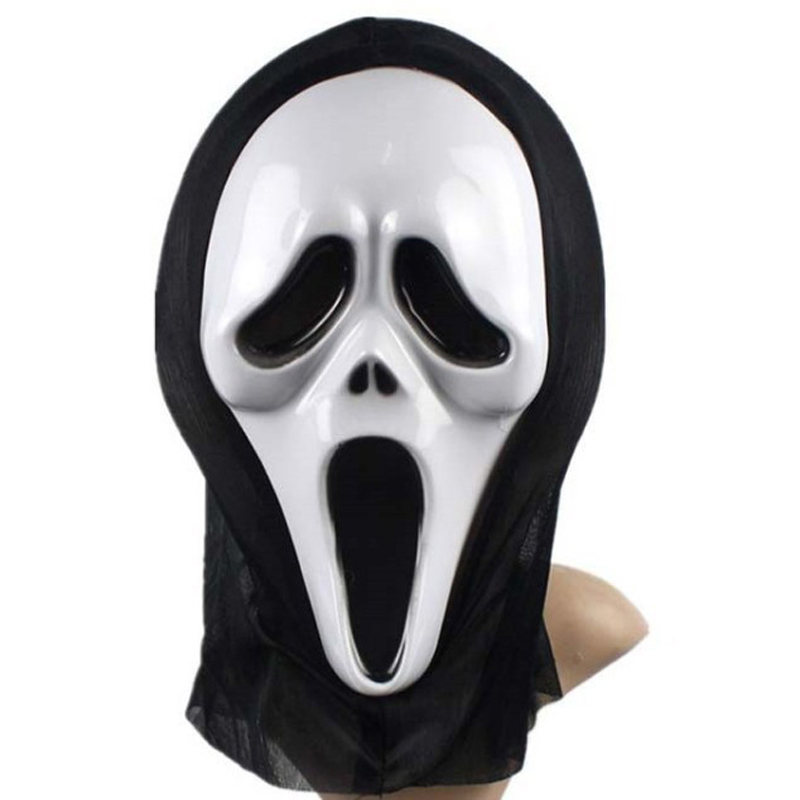 funny full face realistic scary horror mask halloween death ghost witch grimace scream masks party mask cosplay costume prop