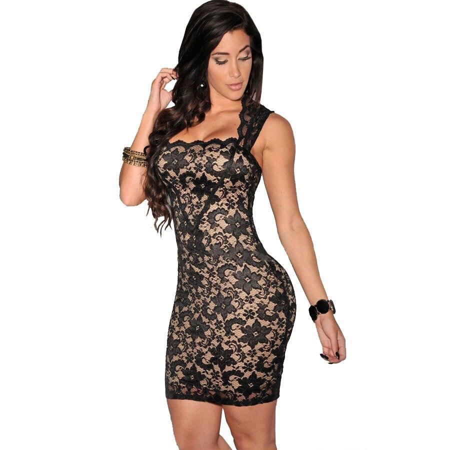 S- XL XXL Vestidos Plus Size Dress 2017 New Summer Style Nude Illusion Lace  Dress da35fb540b6c