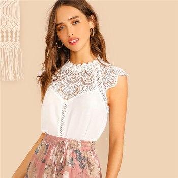 white boho style blouse