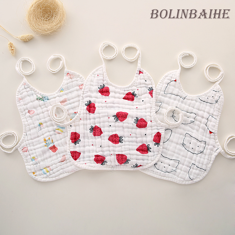 Muslin New Arrival 3pcs/lot Infant Newborn Baby Bibs,Burp Cloth,Cotton Baby Bandana Bibs slabbetjes L012