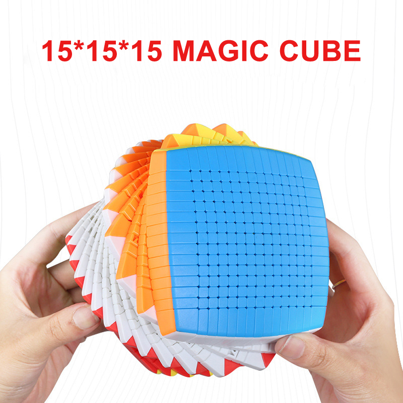 Newest Top SHENGSHOU 15 Layers 106mm Stickerless 15x15x15 Magic Cube Speed Puzzle 15x15 Cube Educational Toys