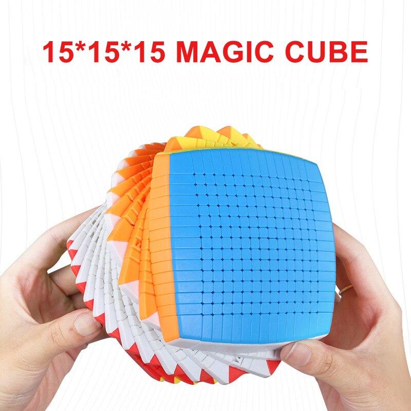El más nuevo Top SHENGSHOU 15 capas 106mm sin adhesivo 15x15x15 cubo mágico de velocidad puzle 15x15 cubo juguetes educativos regalo cubo magico