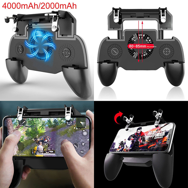 pubg Controller gamepad joystick R1 L1 Shooter joypad game pad Cooler Fan with 2000/4000mAh Power Bank for iPhone android phone