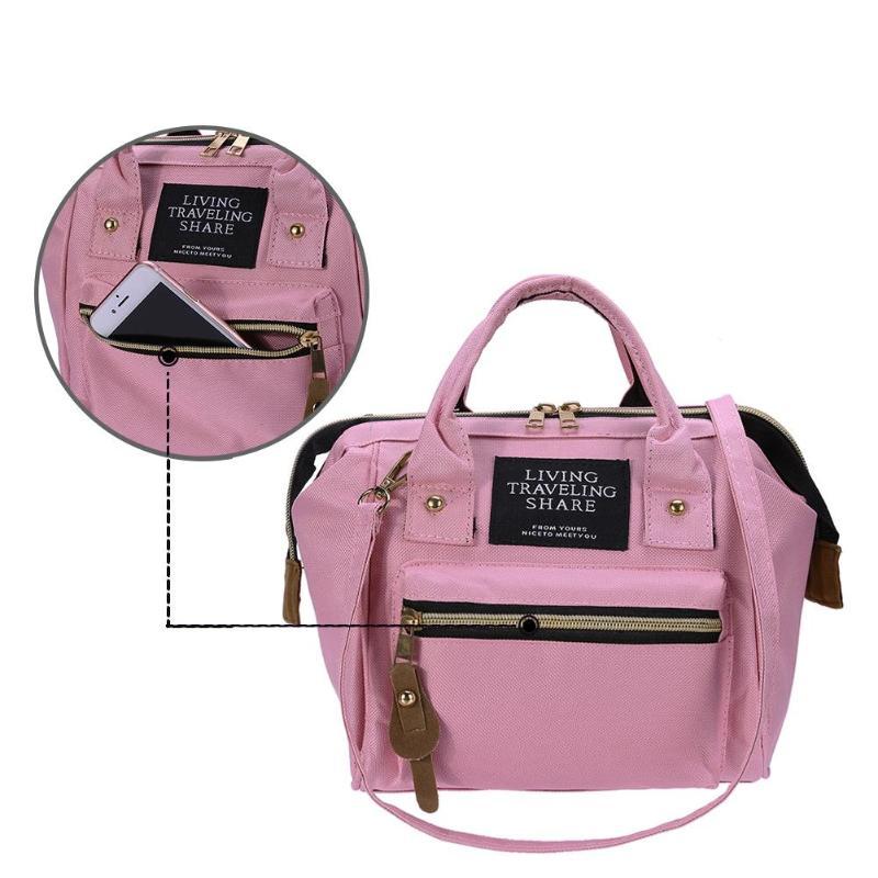 Zipper Mummy Diaper Bags Maternity Shoulder Handbags Large Capacity Women Travel Backpacks Waterproof Baby Nappy Nursing Bags