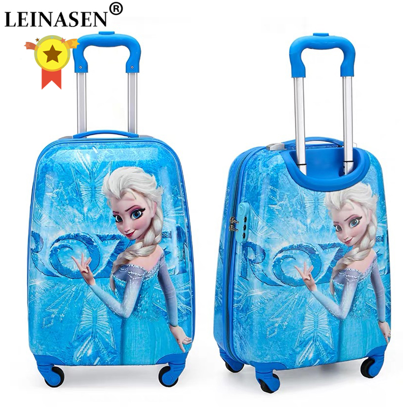 19 Inch Carry-on Suitcase With Wheels Kids Spinner Luggage Carton Travel Rolling Luggage Trolley Bags Children's Suitcase