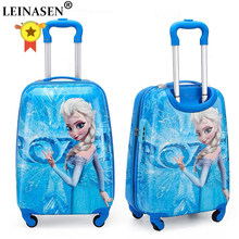19 inch carry-on Suitcase with wheels kids Spinner luggage carton travel Rolling Luggage trolley bags children's suitcase(China)