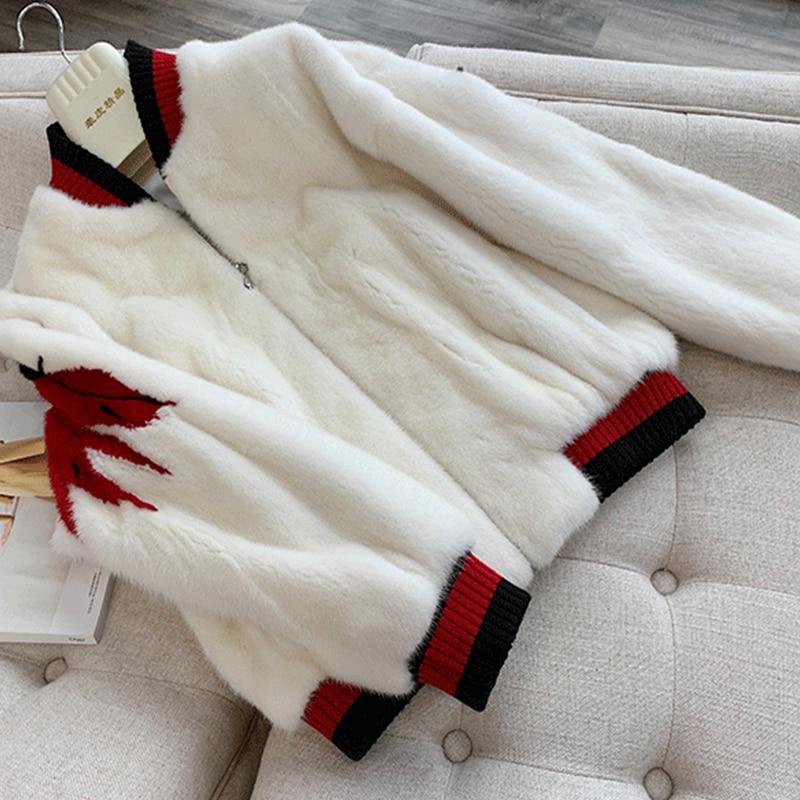 Longues 2019 Vison Véritable Blanc cou Velours Motif Wing Lvchi Femmes Perte Hiver Big De O Manteaux Manteau Fourrure Nouveau À Manches Court 7wZACdq