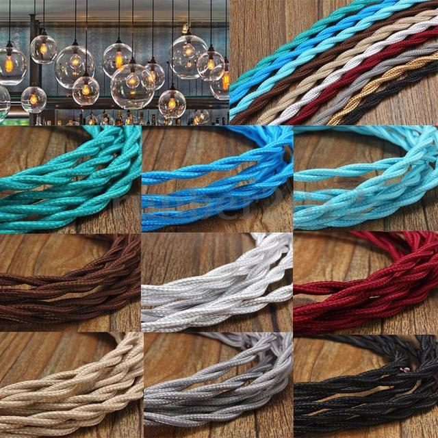 Vintage Twisted Electrical Wire 2*0.75mm Textile Cable Vintage ...