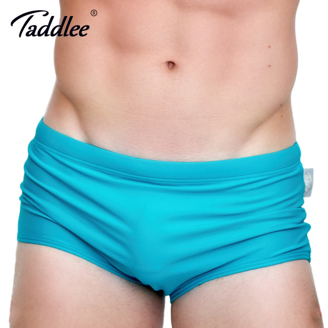 Taddlee Brand Men Swimwear Sexy Swimming Bikini Briefs Surf Board Boxer Shorts Trunks 2017 New Men's Swimsuits Gay Pouch Solid