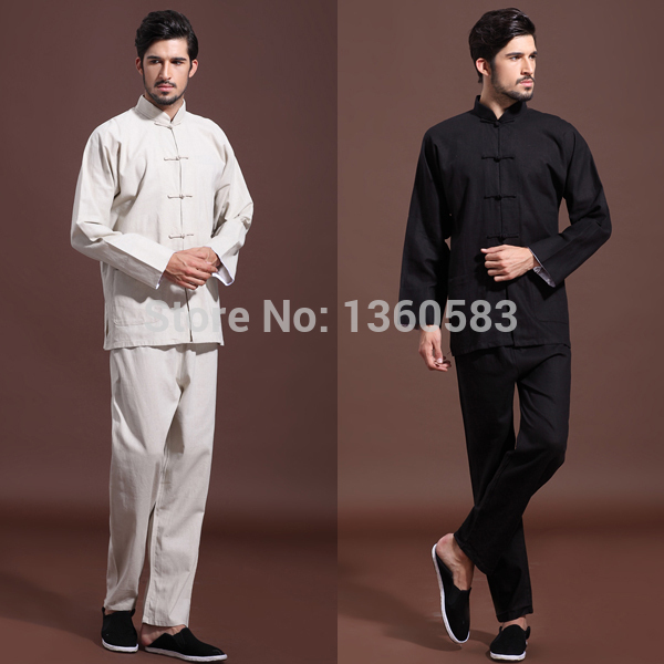 Traditional Chinese Clothing Men's Tang suit Top Martial Arts Suit Wu Shu Sets Tai Chi Kung Fu Uniform Autumn Winter Outfit