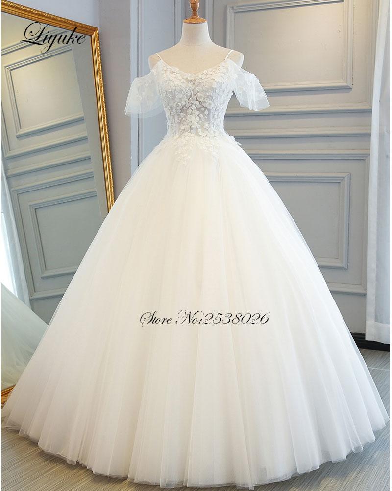 Online Get Cheap Lace Spaghetti Strap Princess Wedding Dress