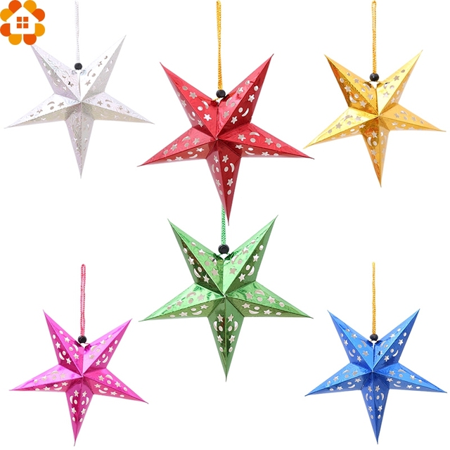1pc 30cm diy paper stars garland star decoration christmas ornaments