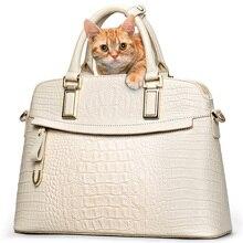 Classic Croc Women Bag Big Brand  Luxury 2016 Women Messenger Handbags 100% Genuine Leather Elegant Female Bag 52ZD