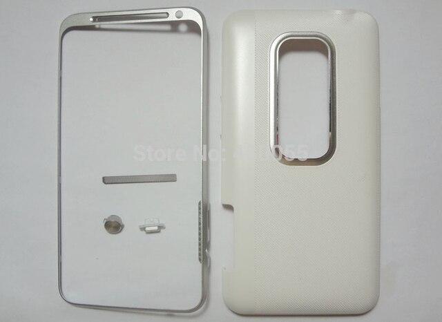 Белый 100% Новый Металлическая панель рамка лицевой панели + Кнопки крышка корпуса чехол Для HTC EVO 3D/X515/G17 Бесплатная Доставка