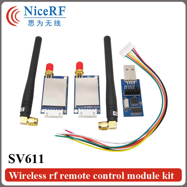 2PCS/Lot SV611 433MHz RS485 Interface 100mW 20dBm Industrial Grade Anti-interference FSK Transmitter/ 433MHz Transceiver Module