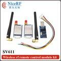 2 шт./лот 433 МГц Интерфейс RS485 100 МВт помехоустойчивая Беспроводной Модуль Приемопередатчика SV611 для Систем Безопасности