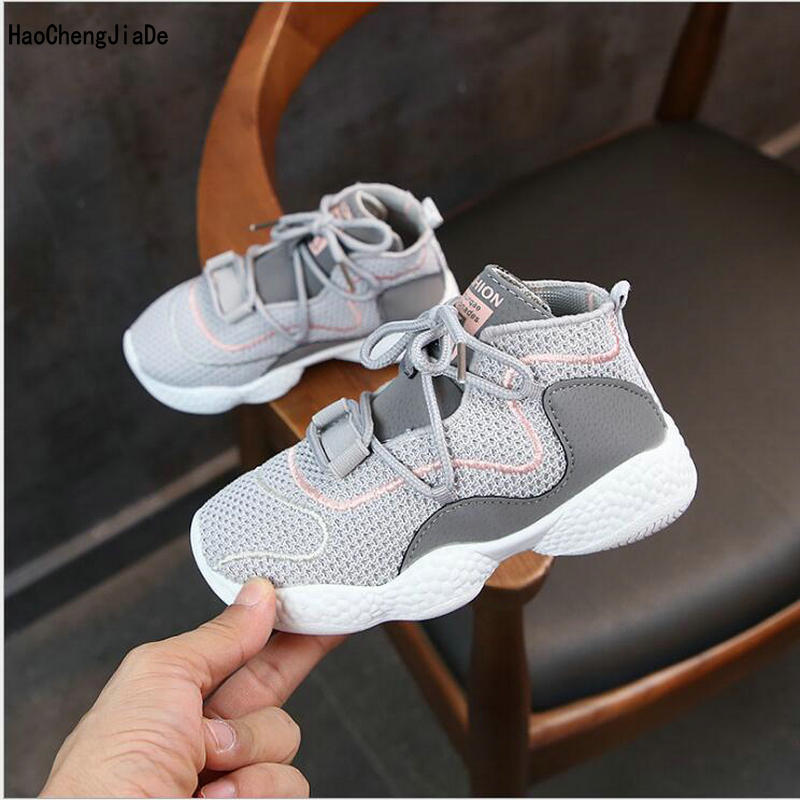 New Autumn Breathable Mesh Children's Shoes High Quality Casual Shoes Light Sport Shoes Kids Sneakers Comfortable Girls Boys