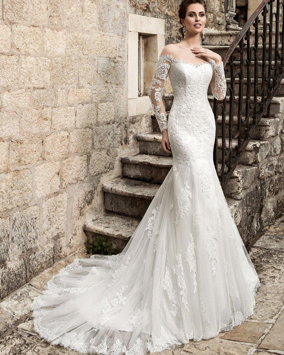 Vestido De Noiva Bridal Gown Hippie Long Sleeve Lace Wedding Dresses Country Western Vintage