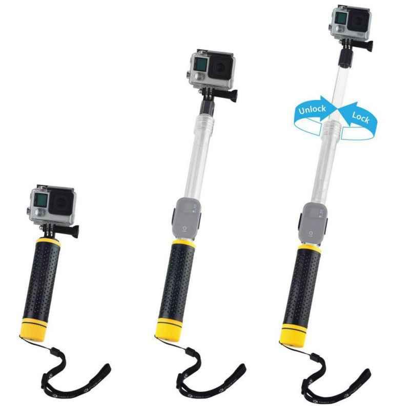 Для GoPro селфи палки водостойкий телескопический полюс плавающий рукоятка для Gopro Hero 7, 6 5, 4 Спортивная камера