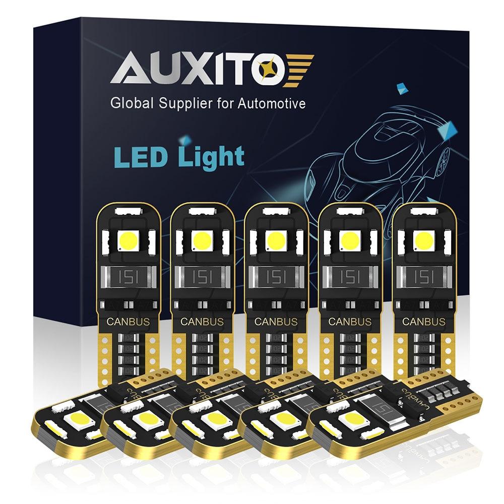10 pçs t10 led lâmpada interior do carro canbus livre de erros t10 branco 3030 smd led 12v cunha lateral do carro luz estacionamento lâmpada estilo do carro