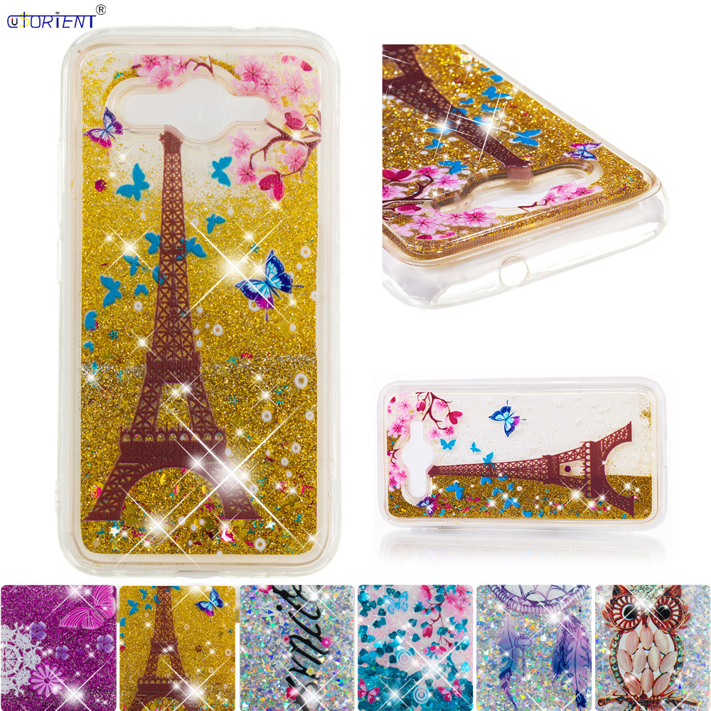 Shock-Resistant And Antimagnetic Orderly For Huawei Y3 2017 Cute Fitted Case Y5 Lite 2017 Glitter Stars Liquid Quicksand Back Cover Cro-u00 Cro-l22 Cro-l02 Phone Funda Waterproof Fitted Cases